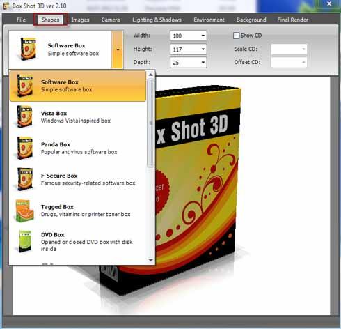 Box Shot 3D - программа для создания 3d обложек