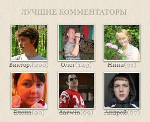 Лучшие комментаторы в 1-й год жизни блога asbseo.ru!