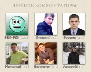 Лучшие комментаторы марта 2013 года