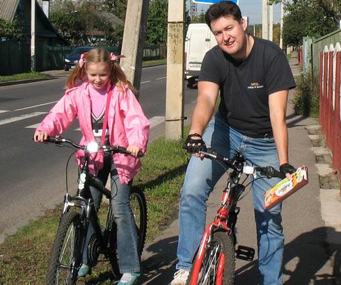 Максим Довженко и его дочь Валерия