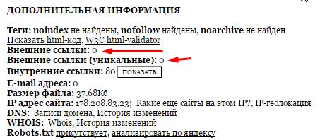 Поиск индексируемых ссылок