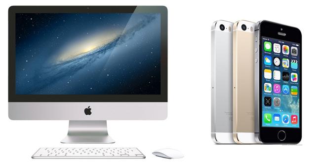 Iphone 5s и iMac