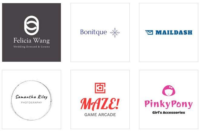 Пример логотипов, созданных при помощи Логомастера